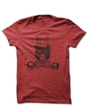 Image of MIR08 TOPHAT CAT T-Shirt (7 COLORS)