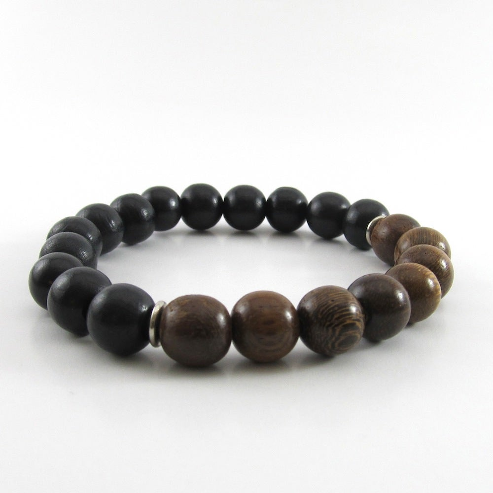 Image of Chunky Robles and Black wooden beaded bracelet
