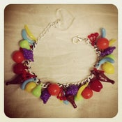 Image of Kitsch Vintage Charm Fruit Bracelet