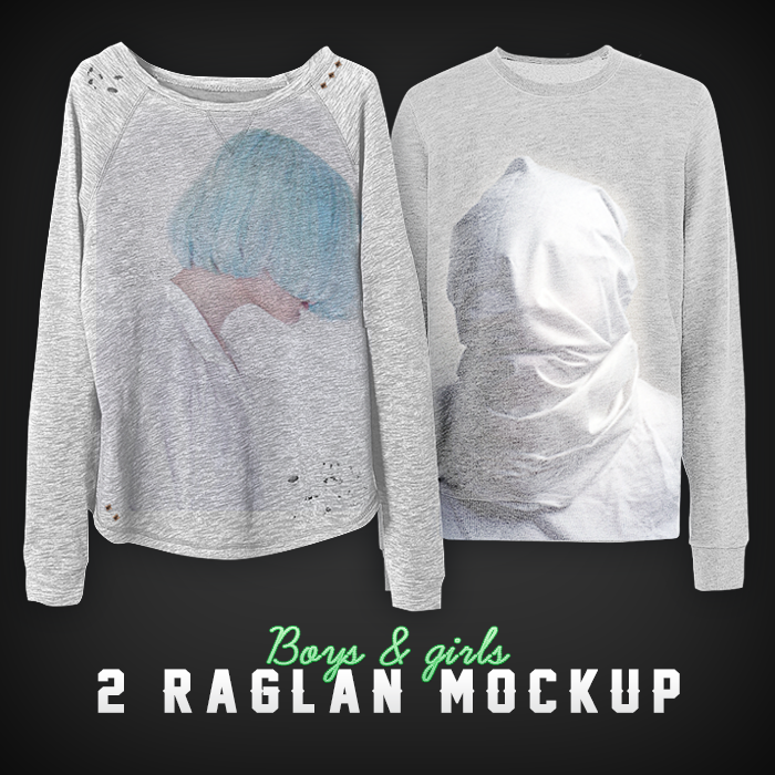 Image of Girl/Man Raglan Mock Up