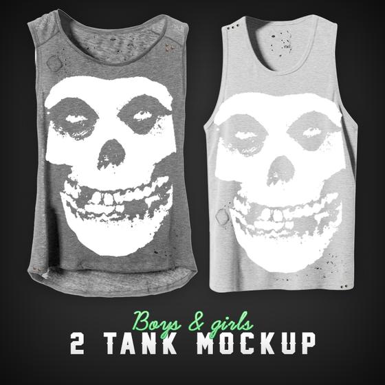 Image of 2 Tank Mockup