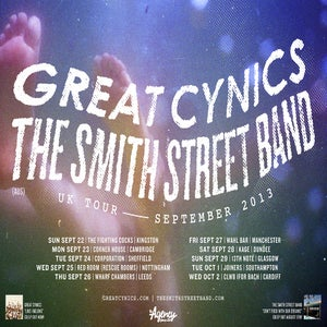 Image of The Smith Street Band / Great Cynics tour poster