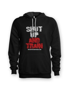 Image of Men Shut Up and Train Blk/Red Hoodie