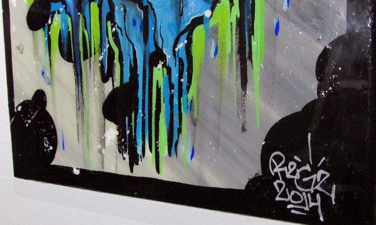 Image of R2G2 WHEN IT RAINS IT POURS ART PIECE