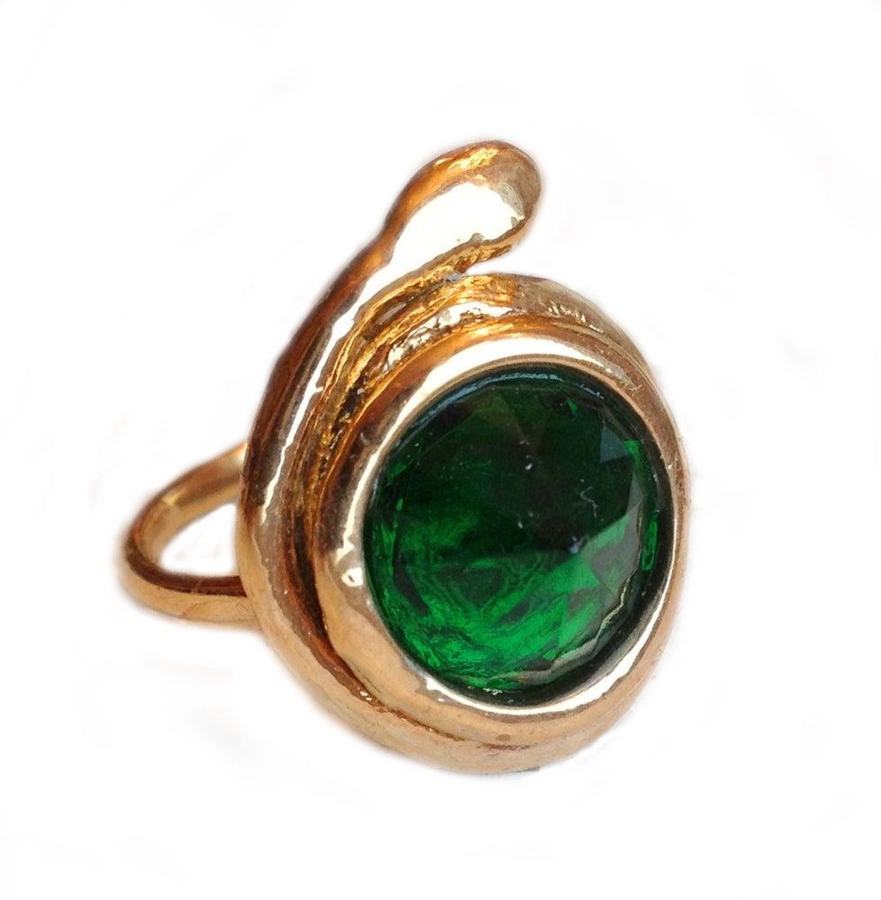 Image of Healer Ring, Bronze, Emerald