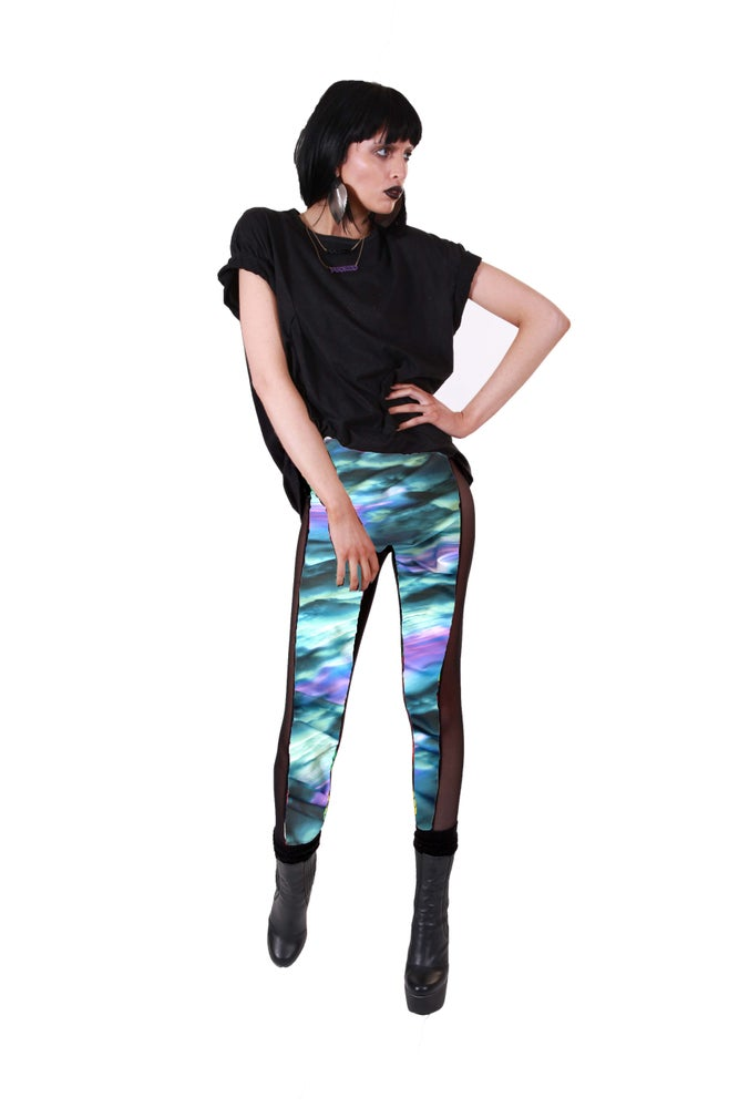 Image of CELINE Leggings in ACID SKY Digital Print