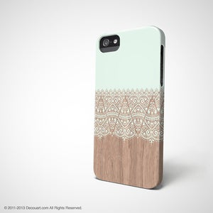 Image of Mint floral iPhone / Samsung case S633