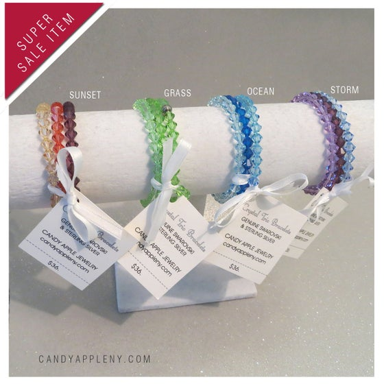 Image of Swarovski Crystal Trio Bracelets - Originally 36.00