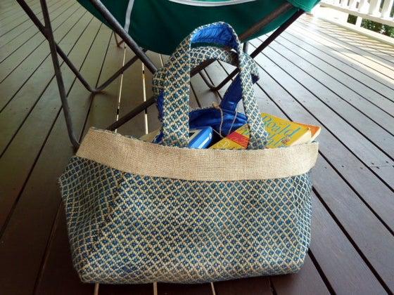 Image of Fair Trade Market Bag - Teal Blue