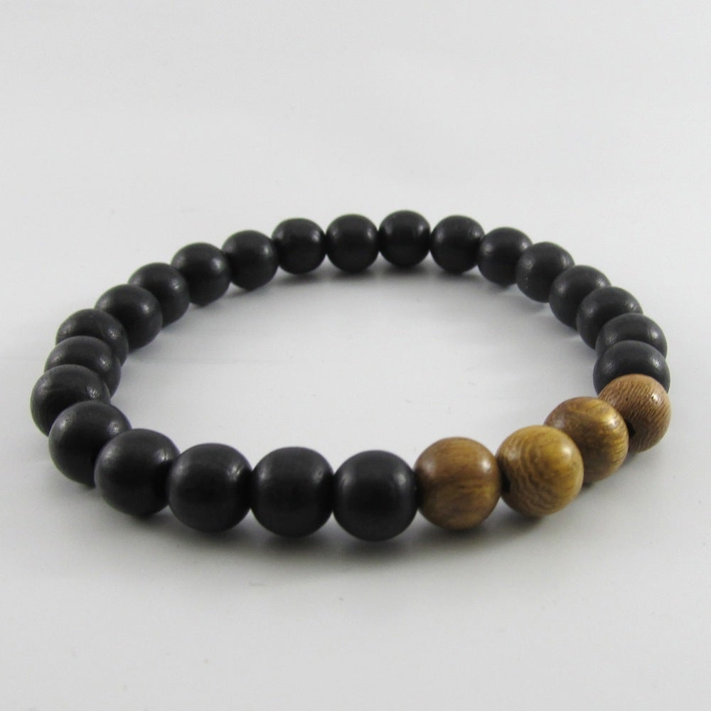 Image of  Black and Robles Beaded Stretch Bracelet
