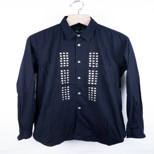 Image of Comme des Garcons Homme Plus Evergreen - Studded Front Button Up Shirt