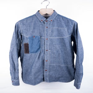 Image of Junya Watanabe MAN - Panneled Chambray Work Shirt