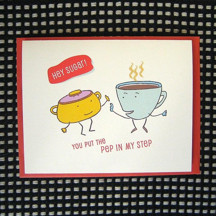 Image of SUGAR GREETING CARD