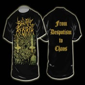 Image of FROM DESPOTISM TO CHAOS - SHIRT MODEL #1 [ COVER ART ]
