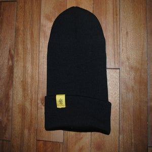 Image of .black.cuffed.beanie.
