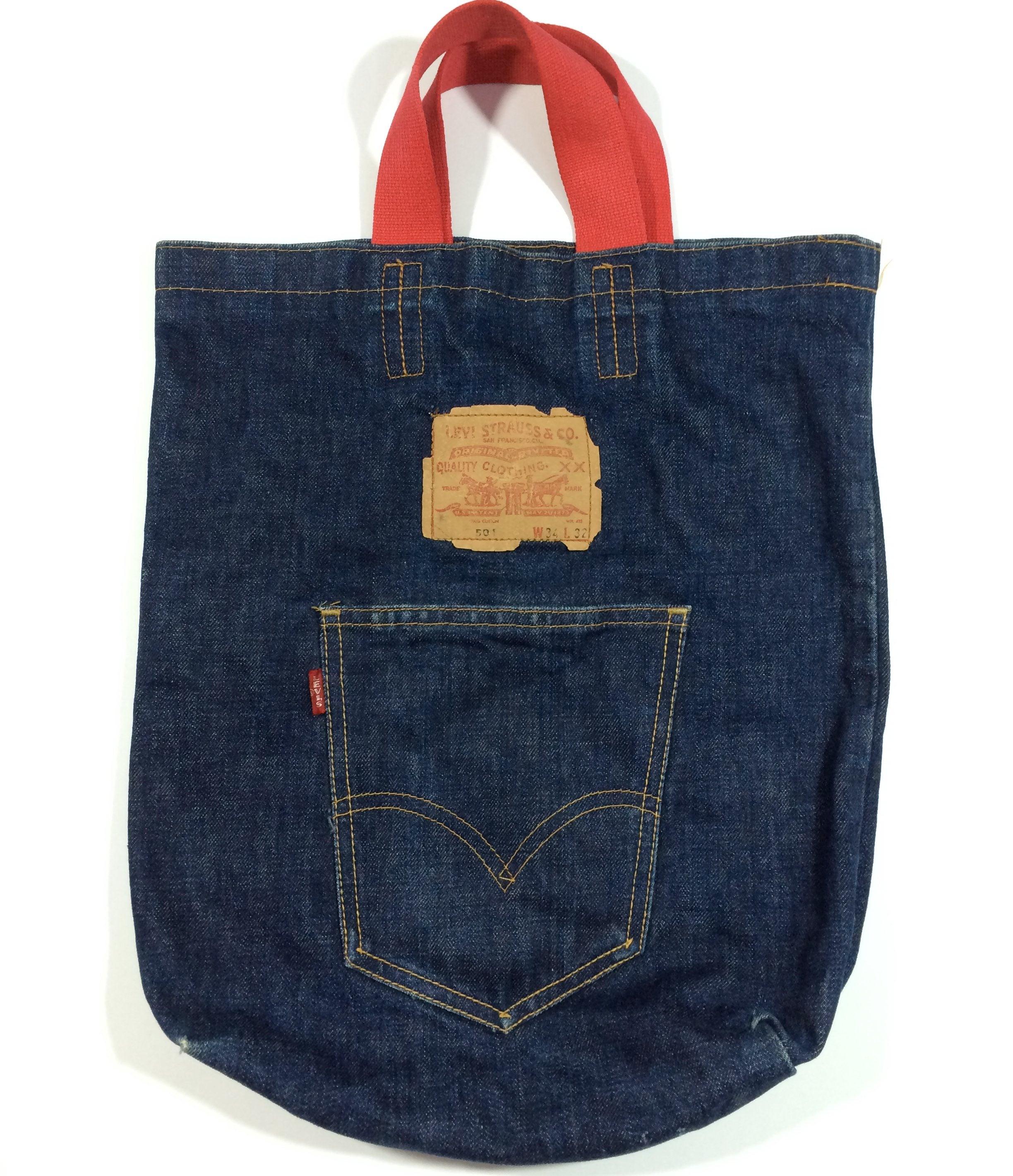 Image of Vintage Levi's denim tote bag