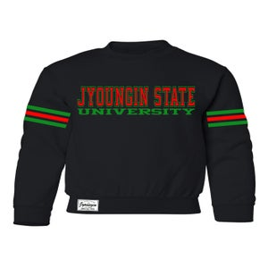 "Image of FOOTBALL CREWNECK ""JYUCCI""  THE Y IS SILENT..."