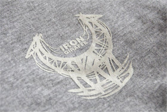Image of Iron Giraffe T-Shirt in grey