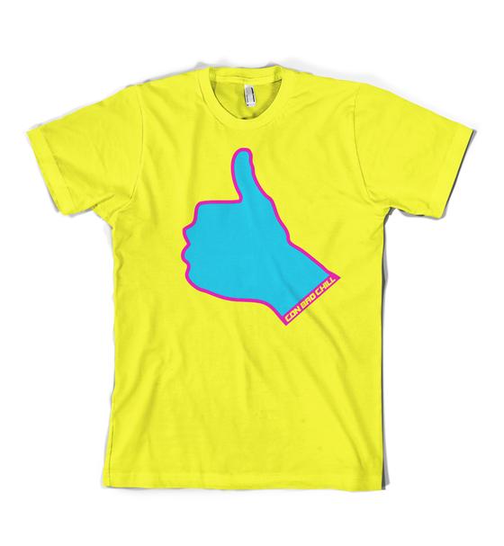 Image of Thumbs Up Logo T Neon Yellow
