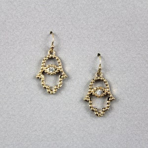 Image of Hamsa Earrings SW205 Gold