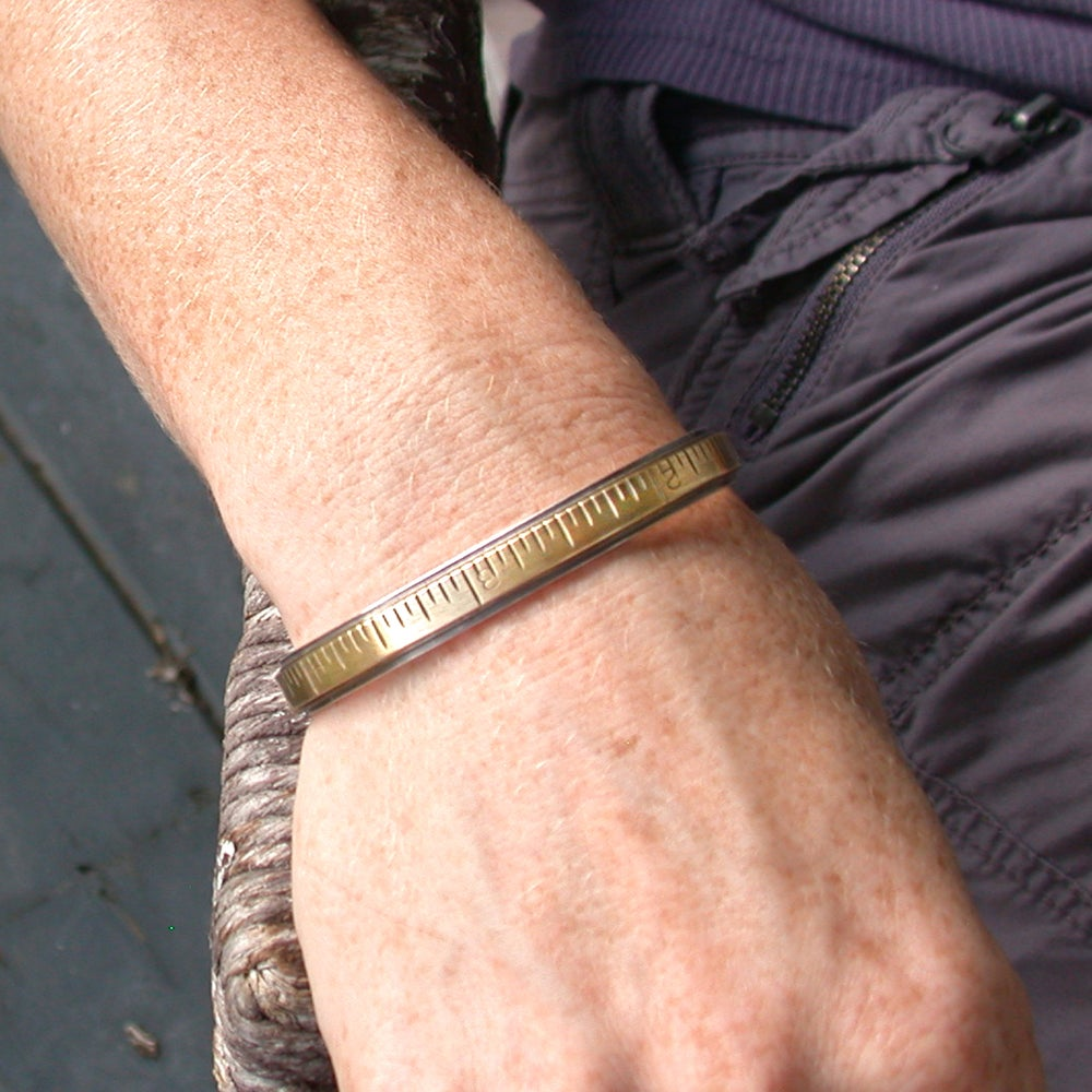 Image of extension ruler cuff bracelet