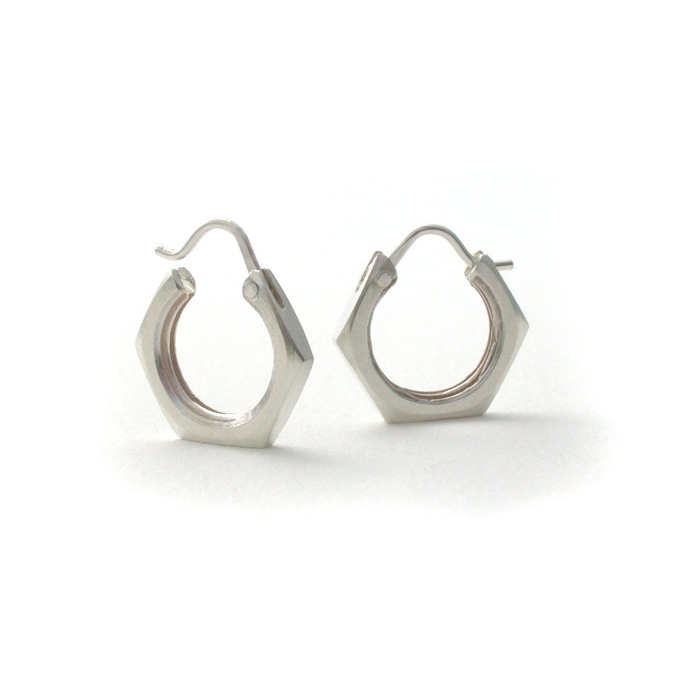 Image of nut hoops ~silver or brass