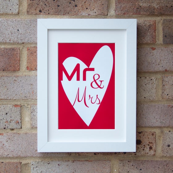 "Image of ""Mr & Mrs"" Print"