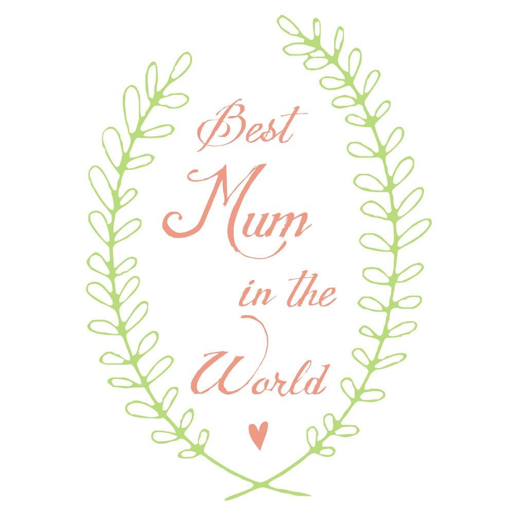 Image of 'best mum in the world' tea towel