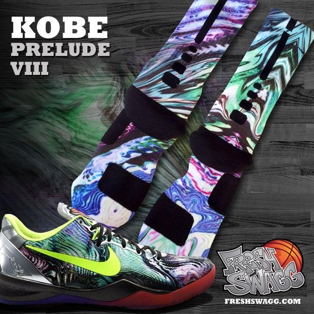 Custom nike elite socks kobe prelude for Custom elite