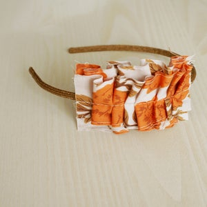 Image of Orange Roses headband