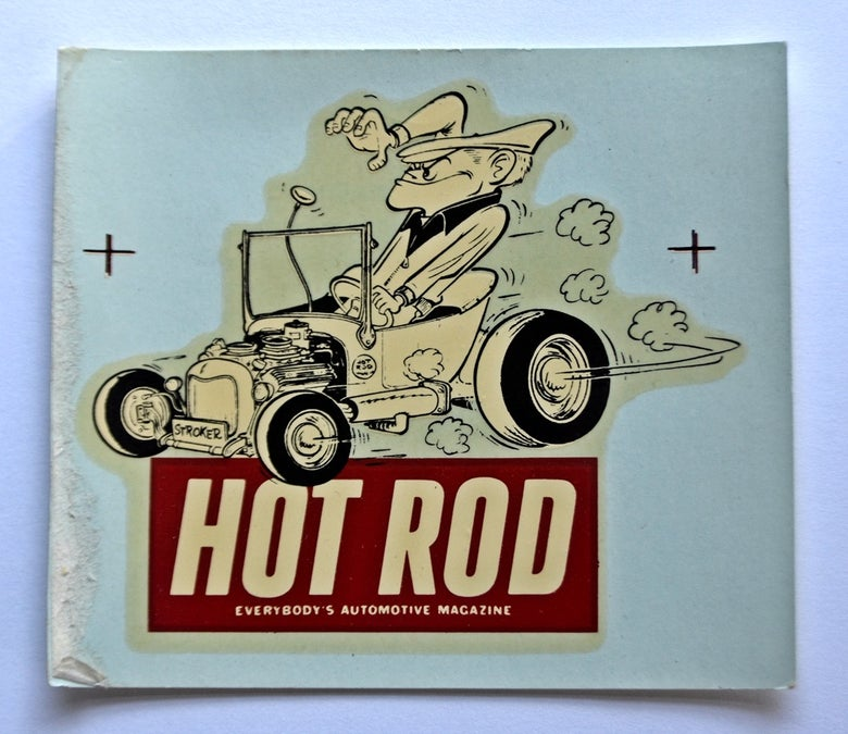Image of Hot Rod Magazine & Stroker water-transfer decal