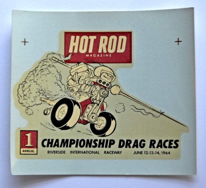 Image of 1st Hot Rod Drags Stroker water-transfer decal