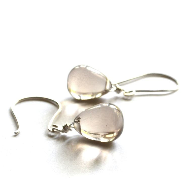Image of Neutral Glass drop earrings