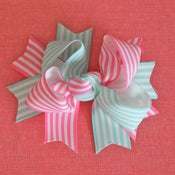 Image of Boutique bow: blue and pink