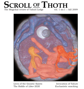 Image of Scroll of Thoth, vol. 1, no. 1 , official Journal of Tahuti Lodge, O.T.O.