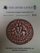 Image of The Lifted Lance, vol. VI, no. III, the official Journal of Knights Templar Oasis, O.T.O.