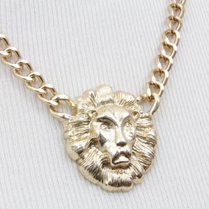 Image of Lion Head Chain Necklace, SW193