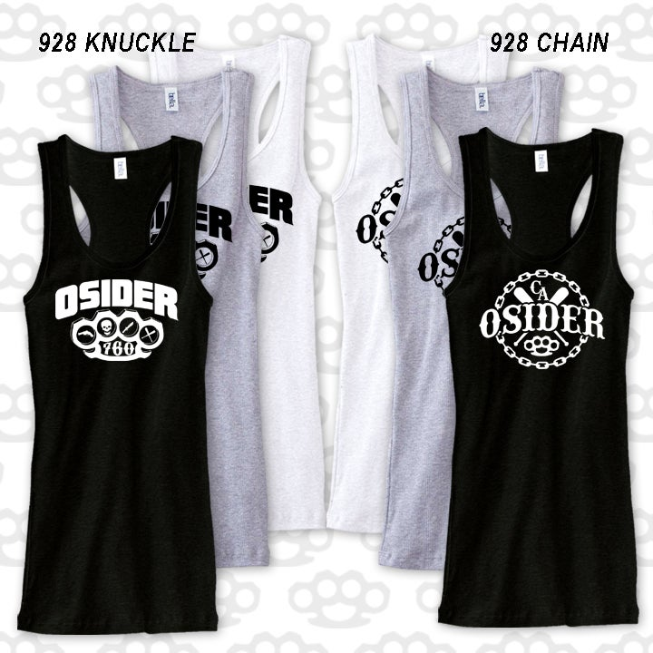 Image of KNUCKLE & CHAIN GIRL TANK