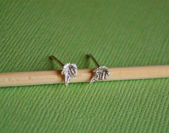 Image of Grape Leaf Post Earrings