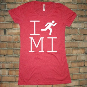Image of I Run Michigan Women's Tee