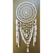 Image of Golden Dreamers - Large Dream Catcher - White Lullaby