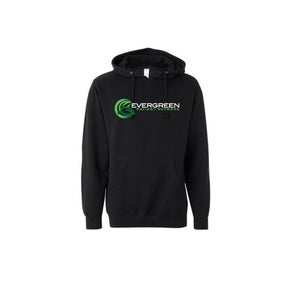 Image of Evergreen Patient Network Pullover Hood In Black