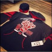 Image of Motor City winter Classic hoodie ( Black Red hockey hoodie very limited )