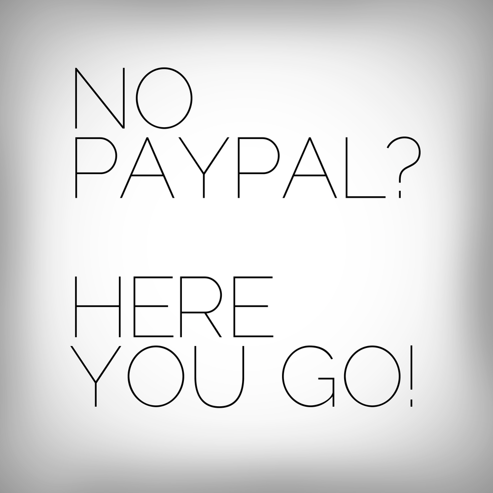 Image of Got no Paypal?