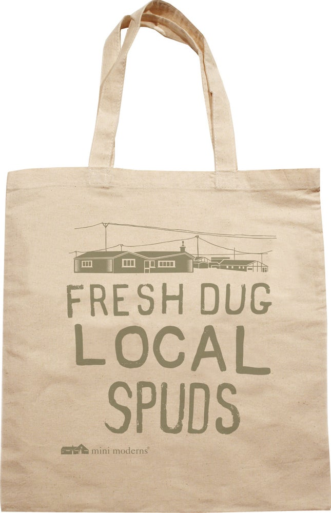 Image of Cotton tote - Fresh Dug Local Spuds
