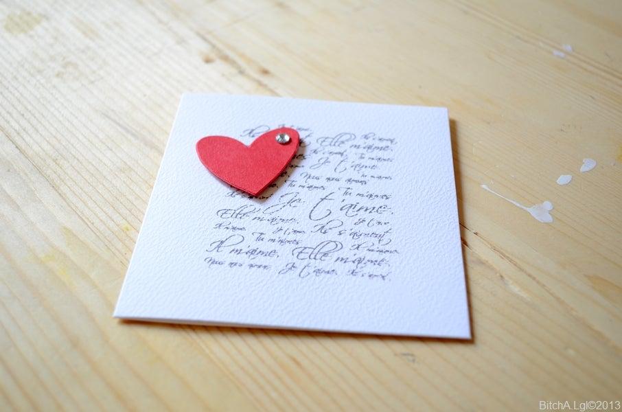"""Image of Carte de Saint-Valentin """"Je t'Aime, Tu m'Aimes, Ils s'Aiment"""" au Cœur"""