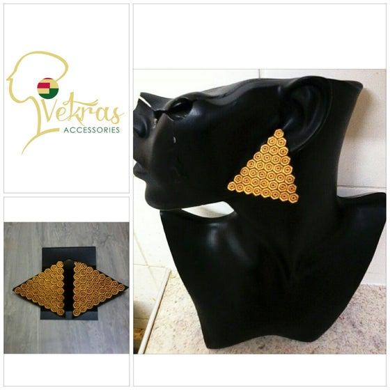 Image of Vekras Gold Triangle Earrings