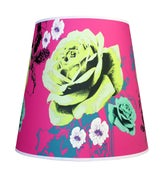 Image of 16inch Fez Shade Pink Exotic Floral Pendant Fitting