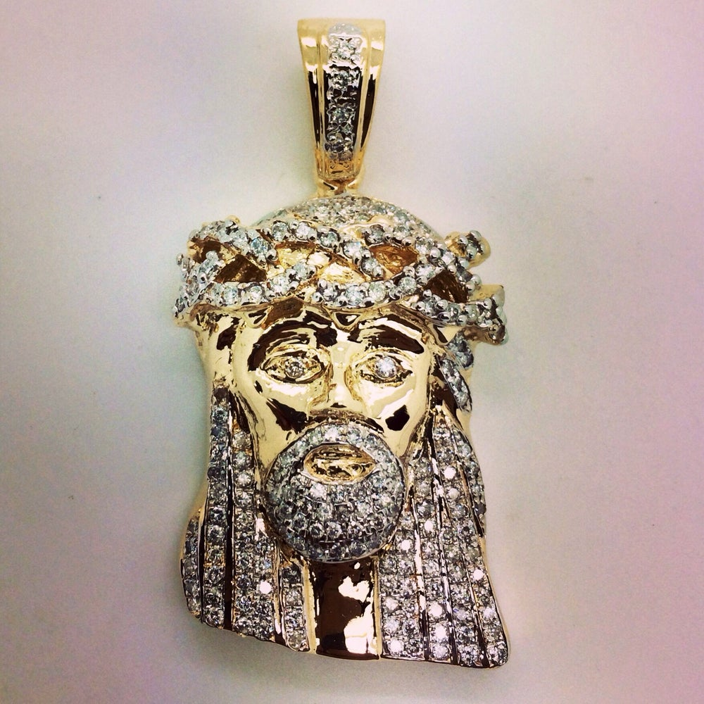 Image of Mini diamond  Jesus piece fully Set