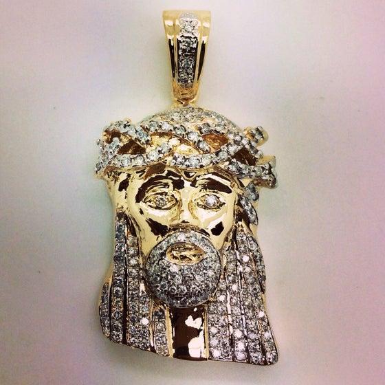 Image of Mini diamond  Jesus piece fully Set